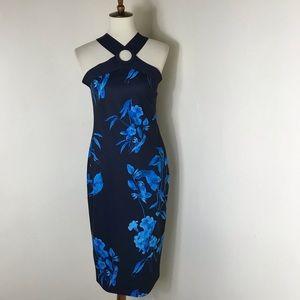 Ted Baker floral sheath midi dress